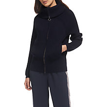 Buy Whistles Zip Front Funnel Neck Cardigan Online at johnlewis.com