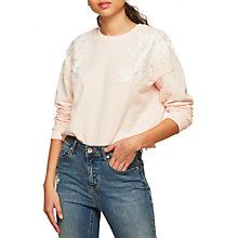 Buy Miss Selfridge Petites Applique Jumper Sweat, Nude Online at johnlewis.com