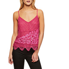 Buy Miss Selfridge Sequin Panel Camisole Online at johnlewis.com