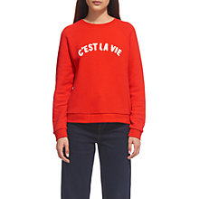 Buy Whistles C'est La Vie Sweater, Red Online at johnlewis.com