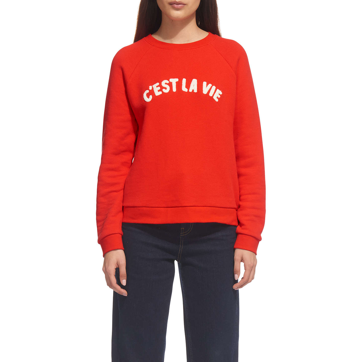 BuyWhistles C'est La Vie Sweater, Red, XS Online at johnlewis.com