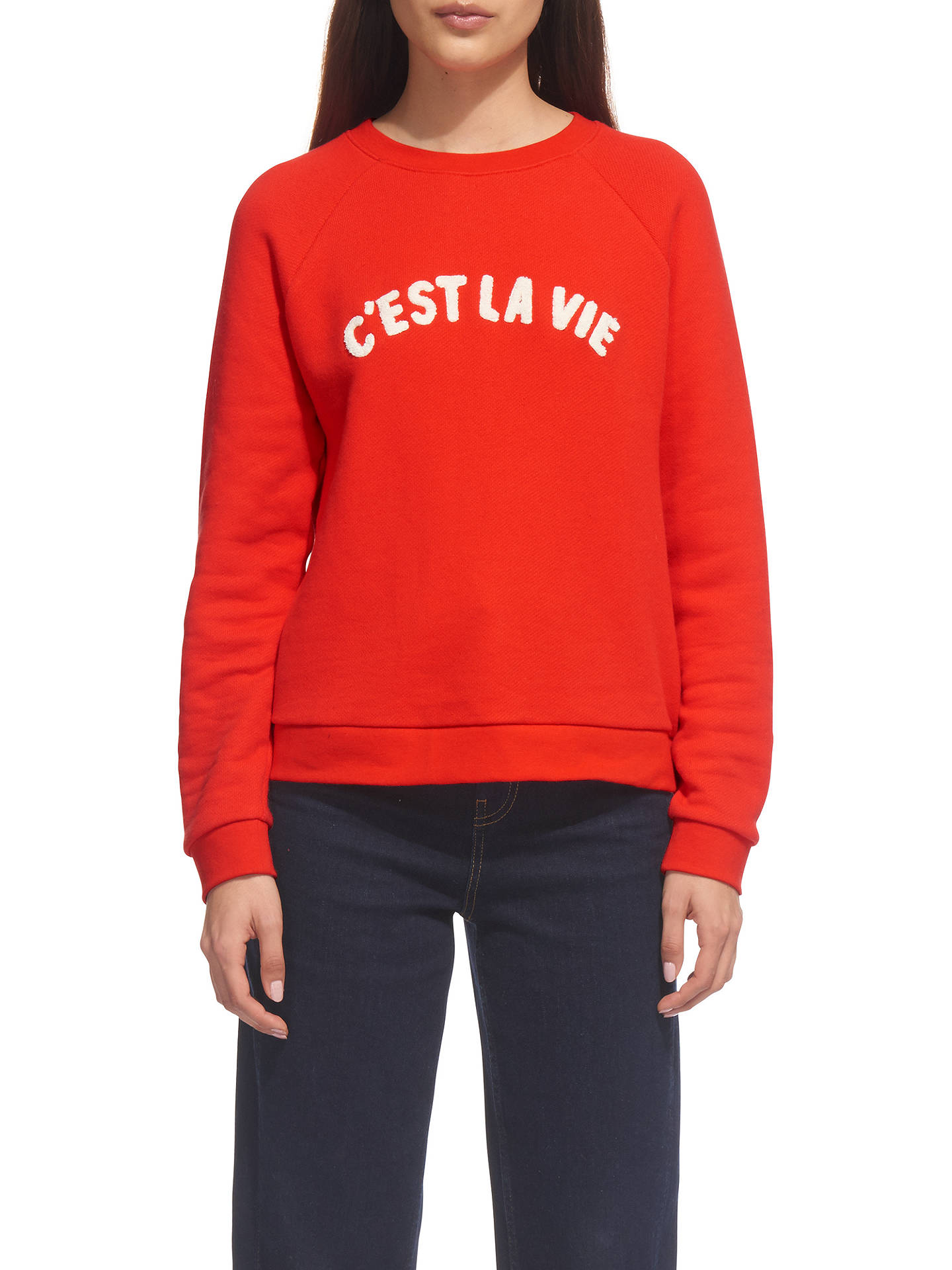Whistles Cest La Vie Sweater Red At John Lewis Partners