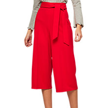Buy Miss Selfridge Petite Culotte Trousers, Red Online at johnlewis.com