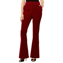 Buy Karen Millen Velvet Collection Tailored Trousers, Red Online at johnlewis.com
