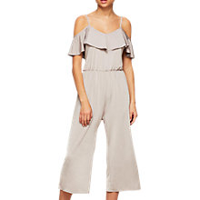 Buy Miss Selfridge Slinky Ruffle Jumpsuit Petite Online at johnlewis.com