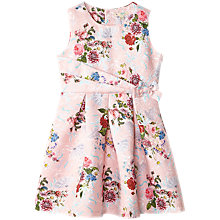 Buy Yumi Girl Jacquard Dress, Pink Online at johnlewis.com
