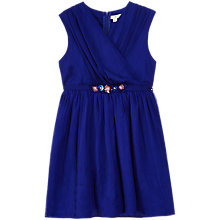 Buy Yumi Girl Crinkle Party Dress, Blue Online at johnlewis.com