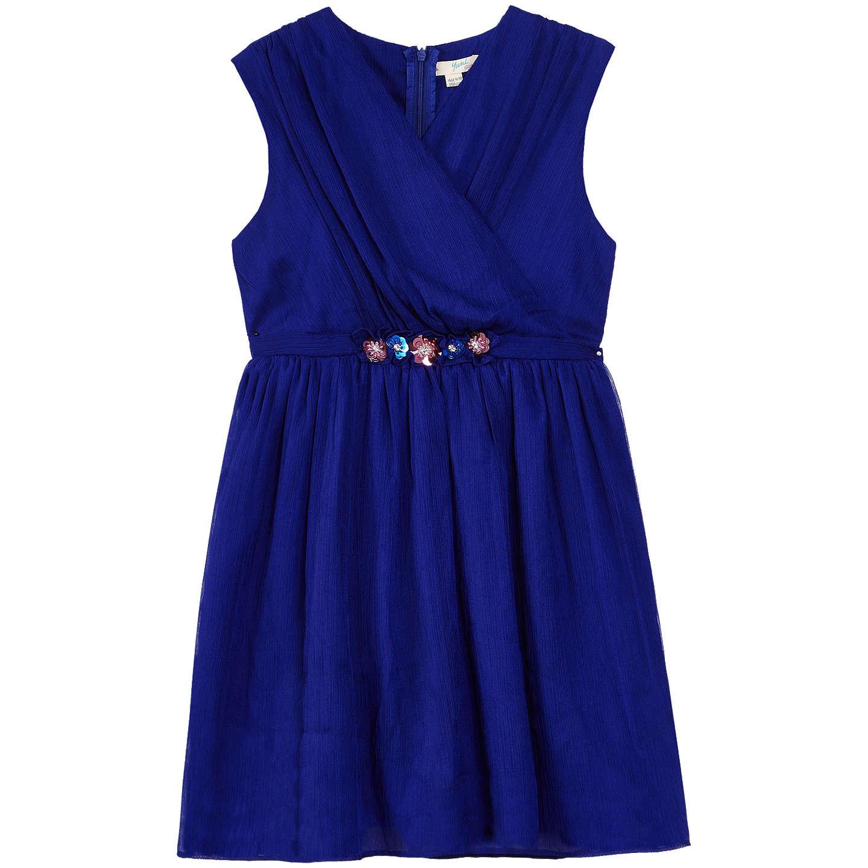 Yumi Girl Crinkle Party Dress, Blue at John Lewis