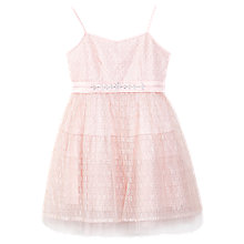 Buy Yumi Girl Metallic Lace Dress, Pink Online at johnlewis.com