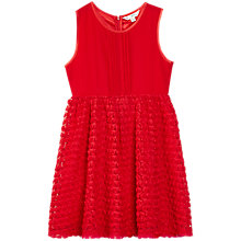 Buy Yumi Girl Pintuck Rose Prom Dress, Red Online at johnlewis.com