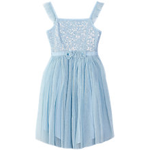Buy Yumi Girl Sequin Corsage Dress, Blue Online at johnlewis.com