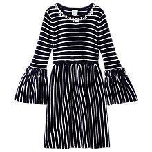 Buy Yumi Girl Striped Knit Dress, Navy Online at johnlewis.com