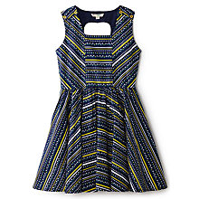 Buy Yumi Girl Tulip Print Dress, Blue Online at johnlewis.com