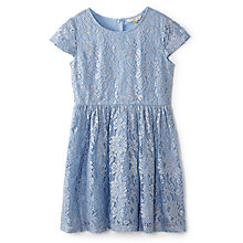Buy Yumi Girl Foiled Lace Dress, Blue Online at johnlewis.com