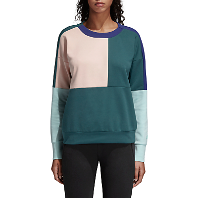adidas ID Glory Sweatshirt, Noble Green/Haze Coral