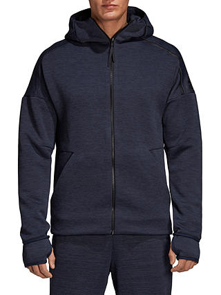 Buy adidas Zone Hoodie, Heather/Legend Ink, S Online at johnlewis.com