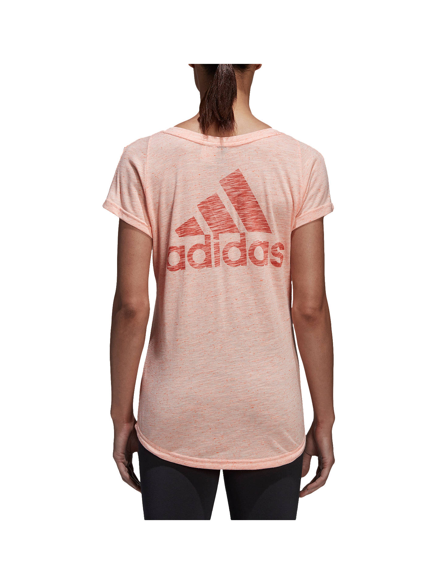 Buyadidas ID Winners T-Shirt, Haze Coral, XS Online at johnlewis.com