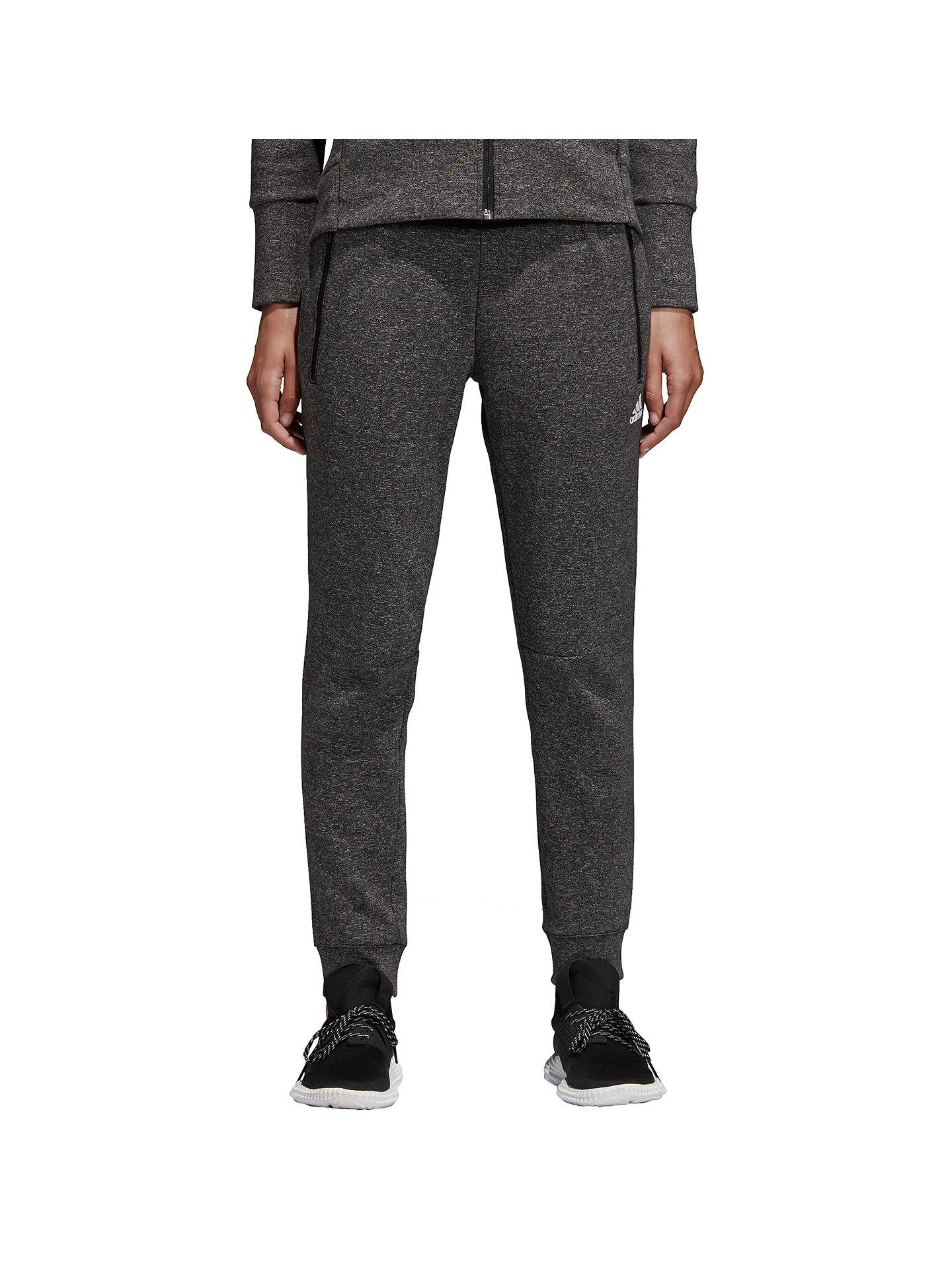 Buyadidas ID Stadium Joggers, Black/Heather, XS Online at johnlewis.com
