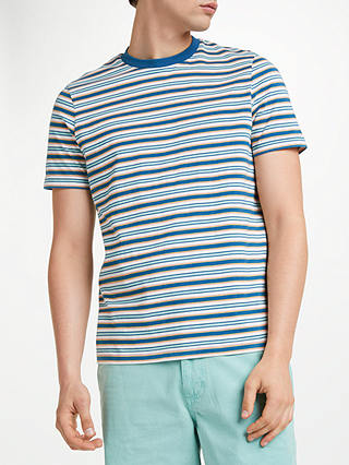 Buy John Lewis & Partners Fionn Stripe T-Shirt, Navy, S Online at johnlewis.com
