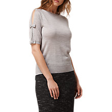 Buy L.K. Bennett Jenny Knitted Wool Top, Grey Online at johnlewis.com