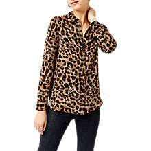 Buy Warehouse Leopard Print Shirt, Animal Online at johnlewis.com