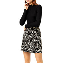 Buy Warehouse Animal Jacquard Mini Skirt, Black Online at johnlewis.com