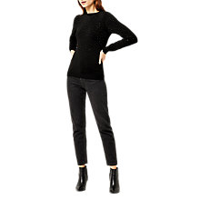 Buy Warehouse Diamante Knit Jumper, Black Online at johnlewis.com