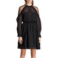 Buy AllSaints Ivy Dress, Black Online at johnlewis.com