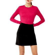 Buy Warehouse Velvet A-Line Skirt, Black Online at johnlewis.com