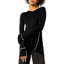Buy Warehouse Asymmetric Piped Side Jumper Online at johnlewis.com