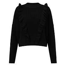 Buy Miss Selfridge Ruffle Front Jumper Petite Online at johnlewis.com