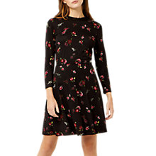 Buy Warehouse Snowdrop Floral Print Dress, Black/Multi Online at johnlewis.com