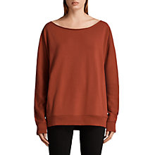 Buy AllSaints Jen Sweater, Copper Red Online at johnlewis.com