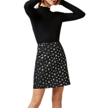Buy Warehouse Star Jacquard Pelmet Skirt, Silver Online at johnlewis.com