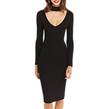 Buy Oasis Choker V-Neck Dress, Black Online at johnlewis.com