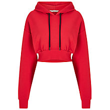 Buy Miss Selfridge Cropped Hoodie, Red Online at johnlewis.com