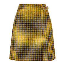 Buy Hobbs Dalby Wool Kilt Skirt, Dandellion Online at johnlewis.com