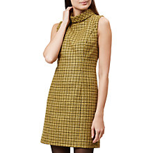 Buy Hobbs Dalby Wool Dress, Dandelion Online at johnlewis.com