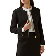 Buy Hobbs Henna Jacket, Black Online at johnlewis.com