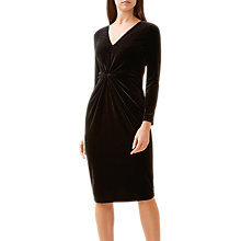 Buy Hobbs Emilia Velvet Dress, Black Online at johnlewis.com