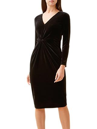 Hobbs Emilia Velvet Dress, Black