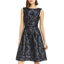 Buy Oasis Jacquard Skater Dress, Blue/Multi Online at johnlewis.com