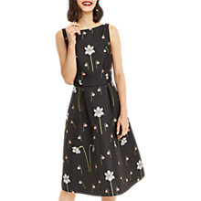 Buy Oasis Snowdrop Print Jacquard Midi Dress, Black/Multi Online at johnlewis.com