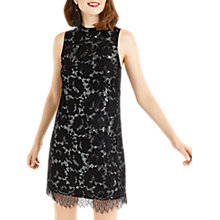 Buy Oasis Metallic Lace Skater Dress, Black/Multi Online at johnlewis.com