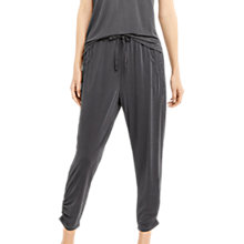 Buy Oasis Soft Lace Trim Joggers, Dark Grey Online at johnlewis.com