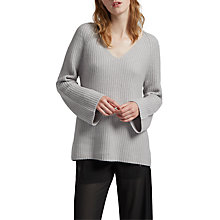 Buy French Connection Capsule Long Sleeve Jumper, Oyster Melange Online at johnlewis.com