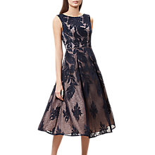 Buy Hobbs Flared Lace Gianna Dress, Navy/Nude Pink Online at johnlewis.com