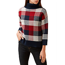 Buy Hobbs Faye Roll Neck Jumper, Multi Online at johnlewis.com