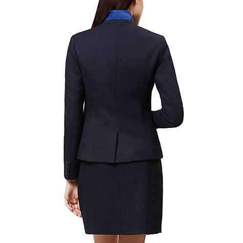 Buy Hobbs Joella Jacket, Navy Online at johnlewis.com