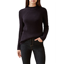 Buy Hobbs Beatrix Sweater, Navy Online at johnlewis.com